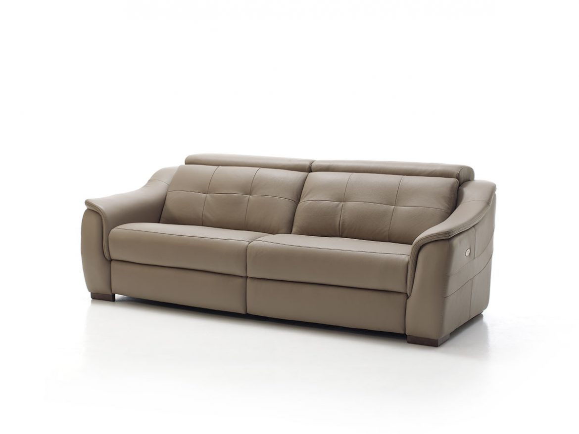 Sylvie Model View between front and 3/4. The sofa is located on a neutral white cyclorama background.